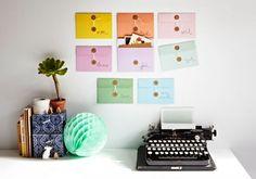 {new at Urbanic} oversized string & button envelopes