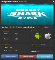 Hungry Shark World Hack Cheats! 100% Legit – [Working 2017] For Android, iOS Hungry Shark World Hack – Free Gems and Gold iOS and Android … Where would I be able to download Hungry Shark world Hack apparatus? Hungry Shark World Hack Cheats! 100% Legit – [Working 2017] … Hungry Shark World Hack and Cheats …