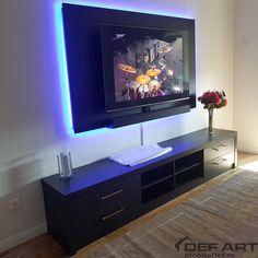 Comoda tv moderna cu lumini Tv Moderna, Flat Screen, Flat Screen Display
