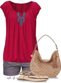 Fashion Ideas for Women Over 40 Summer #cruiseoutfitsforwomen