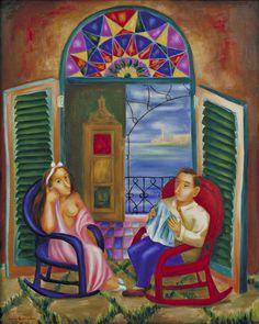 'The Balcony' (1941) by Cundo Bermúdez