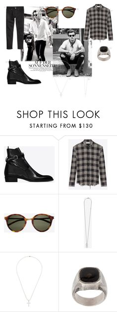 """mens"" by mathildestaber on Polyvore featuring Yves Saint Laurent, Dsquared2, Tobias Wistisen, men's fashion and menswear"