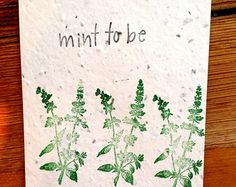 Wildflower Seed Greeting Card, Seed Paper, Plantable Greeting Card, Seed Paper Card, Eco-friendly card, Food Pun, So Hot For You  Sweet Thyme