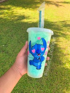 Your place to buy and sell all things handmade Custom Starbucks Cup, Starbucks Mugs, Disney Starbucks, Stitch Cartoon, Reusable Cup, Disney Shoes, Personalized Cups, Tumbler Cups, Adhesive Vinyl