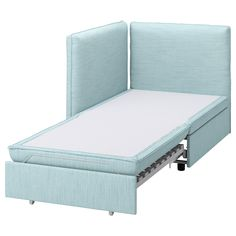 VALLENTUNA Hillared light blue, Sofa-bed module with backrests - IKEA Ikea Vallentuna, Armchair Bed, Sofa Beds, Daybed Room, Family Room Addition, Flexible Furniture, Pull Out Bed, Pillows