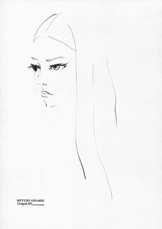 Fashion illustration - pretty fashion sketch // Miyuki Ohashi