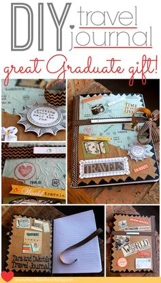 DIY Travel Journal Smash Book Gift Idea for a High School or College Graduate or New Couple for their wedding #gifts #smash book #graduation