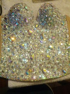 Diamond Corset Iridescent Diamond Platinum by PoolsideCollection, $275.00