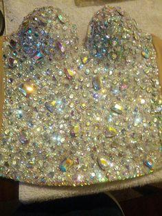 Diamond Corset Iridescent Diamond Platinum by PoolsideCollection, $275.00