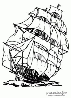 563 best ships images embroidery patterns boats counted cross Remains Edmund Fitzgerald Underwater clipper ship colouring page printable coloring coloring pages for kids coloring
