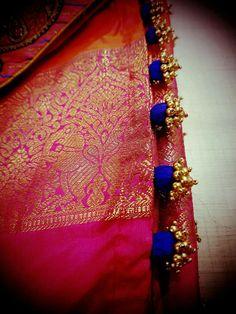 Latest Saree Kuchu/Tassel Designs to Beautify Your Saree Saree Tassels Designs, Saree Kuchu Designs, Saree Blouse Neck Designs, Saree Blouse Patterns, Bridal Blouse Designs, Indian Henna Designs, Mehndi Designs, Art Designs, How To Make Tassels