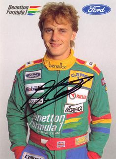 A young Johnny Herbert - do I spy a mullet!?