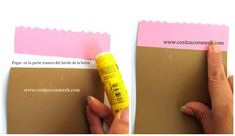 Caja de regalo con cartulina para el día de la madre paso a paso ~ cositasconmesh White Out Tape, Decorated Boxes, Molde, Yellow, Craft, Card Stock, Boy's Day, Step By Step, Crates