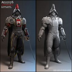 Swiss guard character for Assassin's Creed Brotherhood - Artwork by  Nicolas Collings
