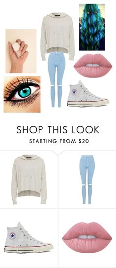 """Untitled #267"" by jazel117 on Polyvore featuring Topshop, Converse and Lime Crime"