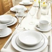 Royal Worcester Platinum Dinner Service - 40 Piece Set