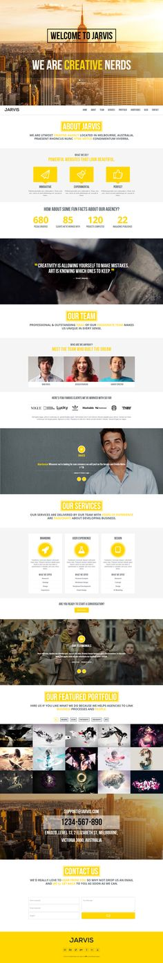 Jarvis -  Onepage Parallax Template by RockNRolla , via Behance