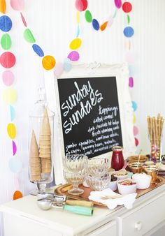 Sundae Bar // ice cream social
