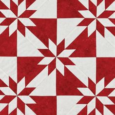 Beautiful red and white star quiltThis striking Scandinavian themed patchwork table runner inThis would be a great 1 large block quilt. Star Quilt Blocks, Star Quilts, Barn Quilt Patterns, Pattern Blocks, Pattern Names, Sewing Patterns, Quilting Projects, Quilting Designs, Hunters Star Quilt