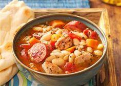Cassoulet facile et léger WW ,recette d'un bon plat rassasiant à base de viande et de haricots, très facile à réaliser et idéal pour un repas complet.