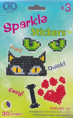 Diamond Dotz Fur Sparkle Stickers Kit Facet Art Bead Craft Kit 40005