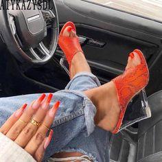 New Crystal wedge Women Sandals High Heels Platform Sexy Slippers Women Flip-flops Shoes Women's Shoes, Cute Shoes, Me Too Shoes, Shoe Boots, Wedge Heels, High Heels, High Sandals, Women Sandals, Flip Flops Damen