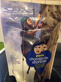 New Girl Scout Gluten Free Chocolate Chip Shortbread cookie