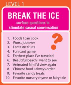 Conversation ice breakers