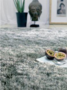 Benuta Whisper Shaggy Hochflor-Teppich   Langflor-Teppich in Grau f�r Schlafzimmer und Wohnzimmer   140x200 cm