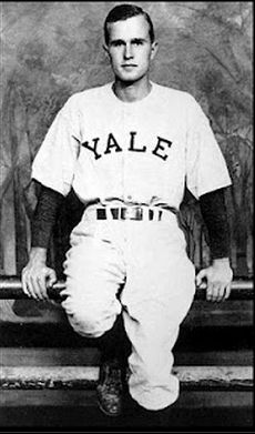 George H. W. Bush, a member of Delta Kappa Epsilon at Yale University http://wp.me/P20I1i-l5 #DEKE #fraternityhistory
