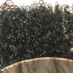 Полное Кружева Фронтальная Закрытие 13x4 Вьющиеся Девственницы Индийские Человеческих Волос Кружева Фронтальной с Ребенком Волос Индийский девы вьющиеся волосы ф�