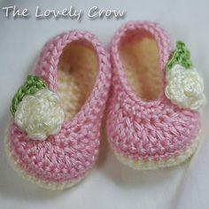 Ballet zapatillas Crochet patrón para zapatillas de por ebethalan
