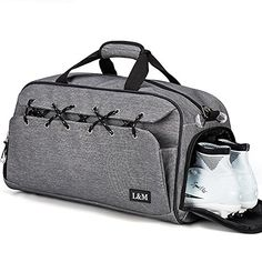 Gym Duffel Bag Sports Travel Tote Bag Overnight for Men and Women with Shoe  Compartment, 428c31aacb