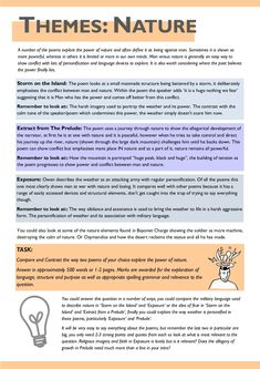AQA Power and Conflict Poetry Revision Guide English Gcse Revision, Gcse Maths Revision, Gcse English Language, Aqa English Gcse, Exam Revision, Revision Notes, English Literature Poems, Teaching Literature, Life Hacks For School