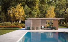 Pavilion H double - Self-supporting pergola / aluminum / painted aluminum / wooden by KETTAL