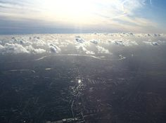 The River Thames, (London) England | The 50 Most Beautiful Shots Taken Out Of Airplane Windows
