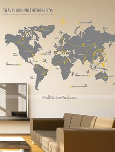 Travel around the world wall sticker urban wall sticker travel around the world wall sticker gumiabroncs Image collections