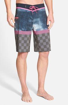 Men s Quiksilver  AG47 Check Trip  Board Shorts Traje De Baño Hombre 88876381548