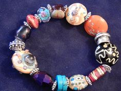Gorgeous stretch beaded bracelet. Looks great stacked with other bracelets.