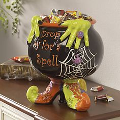 Halloween Decor / Witch Cauldron / Halloween Entertaining / - Witchs Cauldron from Through the Country Door®