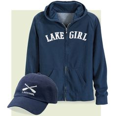 Cathy - Navy Lake Girl Hoodie - Gifts, Clothing, Jewelry, Home Decor and Home Furnishings as Featured in Popular Catalogs | Catalog Favorites