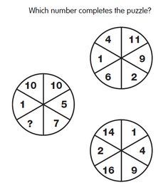 Awesome Missing Number Math Circle Puzzles with Answers