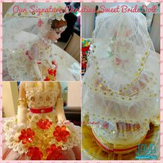 The close view of the doll Bride Dolls, Sweets, Chocolate, Cake, Handmade, Sweet Pastries, Pie Cake, Hand Made, Gummi Candy