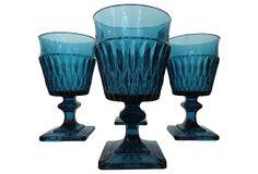 Turquoise Water Goblets, S/4 on OneKingsLane.com