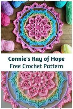 Motif Mandala Crochet, Crochet Flower Patterns, Crochet Doilies, Crochet Flowers, Crochet Dreamcatcher Pattern Free, Mandala Yarn, Crochet Ideas, Dress Patterns, Crochet Circle Pattern