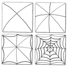 Spider web art How to draw the frame Halloween Art Projects, Theme Halloween, Fall Art Projects, Doodle Patterns, Zentangle Patterns, Doodle Drawings, Doodle Art, Deco Porte Halloween, Art Handouts