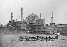 St. Sophia (Hagia Sophia) from the Hypodrome [sic], Constantinople, Turkey, in 1857