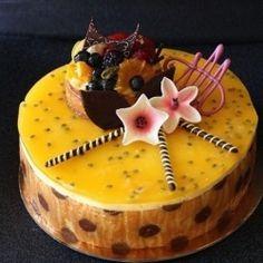 Passion Fruit Mousse Joconde