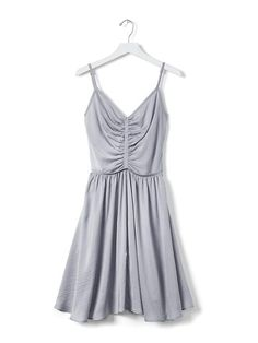 Banana Republic Blue Shirred Dress - who doesn't love a dress that looks like something Cinderella would wear and it has pockets?!