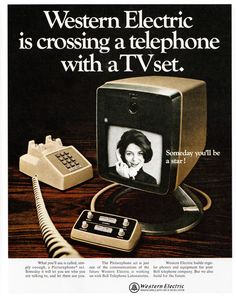 Someday you'll be a star! Western Electric is crossing a telephone with a TV set. (1968) [800×1004] Source: https://openpics.aerobatic.io/